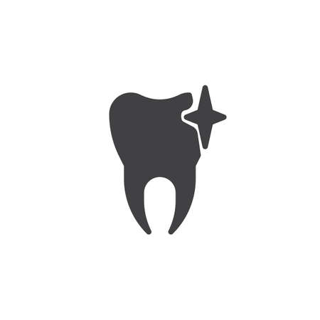 Shiny clean tooth icon. Illustration