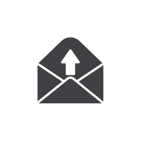 Outgoing message icon vector, filled flat sign, solid pictogram isolated on white.
