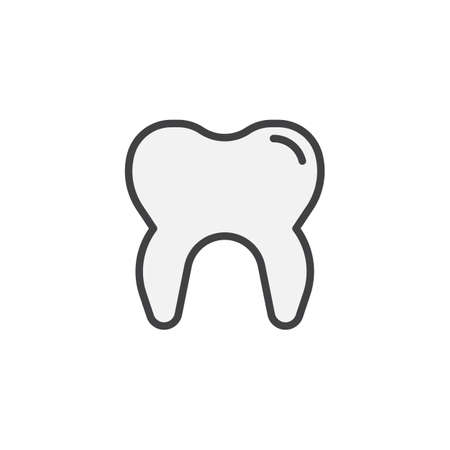 Human tooth filled outline icon