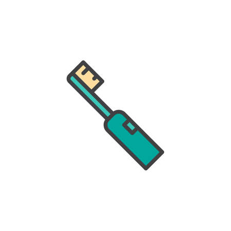 Electric toothbrush filled outline icon