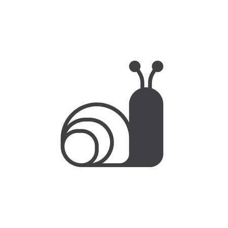 Snail animal icon vector, filled flat sign, solid pictogram isolated on white. Symbol, logo illustration. Illustration