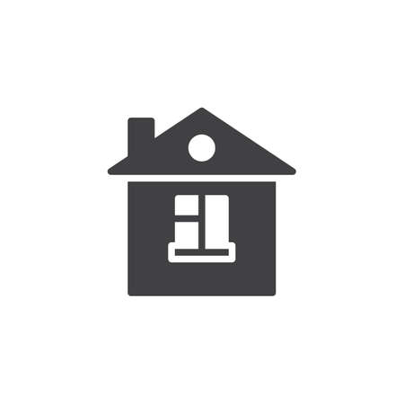 House icon vector, filled flat sign, solid pictogram isolated on white. Home page symbol illustration. Illustration