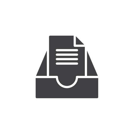 Archive mail box icon vector, filled flat sign, solid pictogram isolated on white. Symbol, icon illustration.