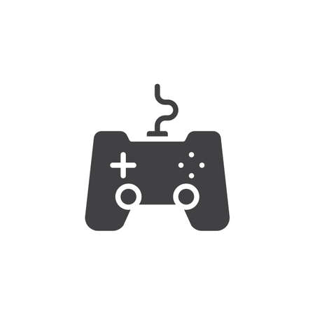 Game Joystick Icon Vector Filled Flat Sign Solid Pictograph