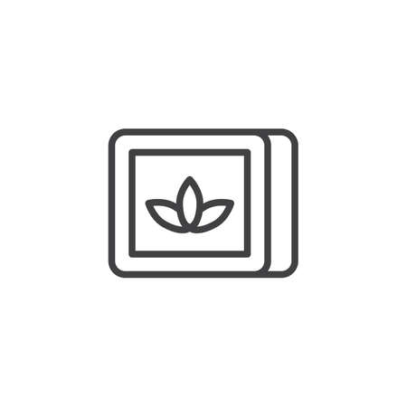 Tobacco box line icon, outline vector sign, linear style pictogram isolated on white. Chewing tobacco symbol, logo illustration. Editable stroke