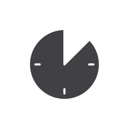 10 minute time icon vector filled flat sign solid pictogram