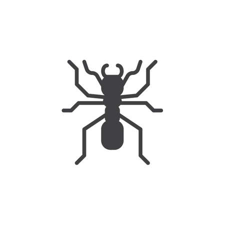 Ant worker icon vector, filled flat sign, solid pictogram isolated on white. Pismire symbol, logo illustration.