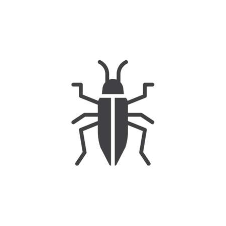 Bedbug icon vector, filled flat sign, solid pictogram isolated on white. Chinch symbol, logo illustration.