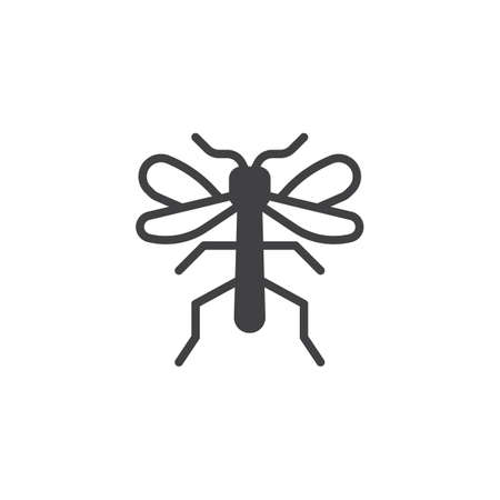 Mosquito insect icon vector, filled flat sign, solid pictogram isolated on white. Symbol, logo illustration.