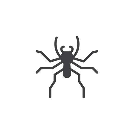 Jumping spider icon vector, filled flat sign, solid pictogram isolated on white. Symbol, logo illustration. Stock Vector - 94976782