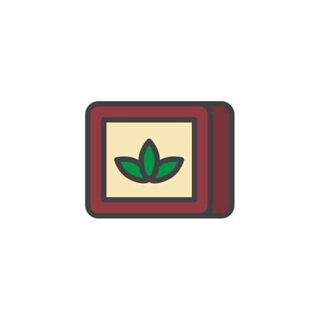 Tobacco box filled outline icon, line vector sign, linear colorful pictogram isolated on white. Chewing tobacco symbol, icon  illustration. Pixel perfect vector graphics.