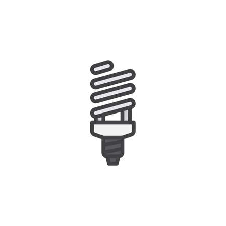 Fluorescent lamp filled outline icon vector illustration
