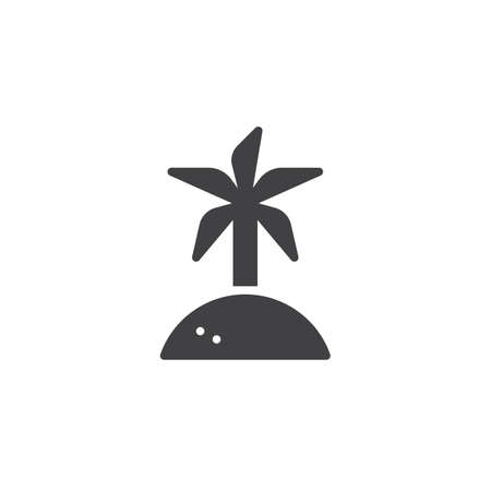 Coconut palm tree vector icon. filled flat sign for mobile concept and web design. Island travel simple solid icon. Symbol, logo illustration. Pixel perfect vector graphics