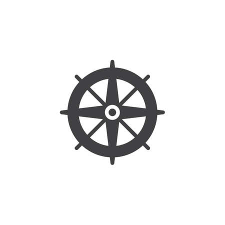 Wind rose vector icon. filled flat sign for mobile concept and web design. Compass simple solid icon. Symbol, icon illustration. Pixel perfect vector graphics