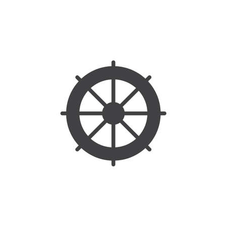 Ship steering wheel vector icon. filled flat sign for mobile concept and web design. Rudder simple solid icon. Symbol, logo illustration. Pixel perfect vector graphics Illustration