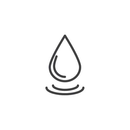 Water drop outline icon. linear style sign for mobile concept and web design. Droplet simple line vector icon. Symbol, logo illustration. Pixel perfect vector graphics Illustration