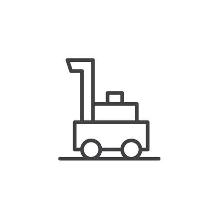 Lawnmower outline icon. linear style sign for mobile concept and web design. Grass cutter simple line vector icon. Symbol, logo illustration. Pixel perfect vector graphics