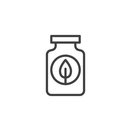 Fertilizer bottle outline icon. Иллюстрация