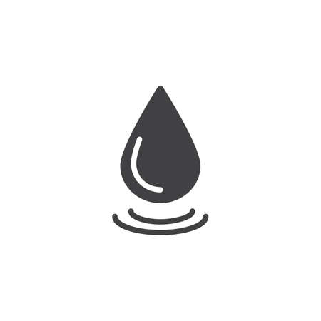 Water drop vector icon.