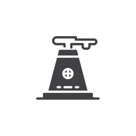 Industry factory vector icon. filled flat sign for mobile concept and web design. Factory pipe simple solid icon. Symbol, logo illustration. Pixel perfect vector graphics Vectores