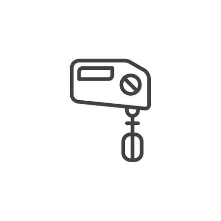 Hand mixer outline icon. linear style sign for mobile concept and web design. Beater simple line vector icon.