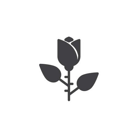 Rose flower vector icon. filled flat sign for mobile concept and web design. floret simple solid icon. Symbol, logo illustration. Pixel perfect vector graphics