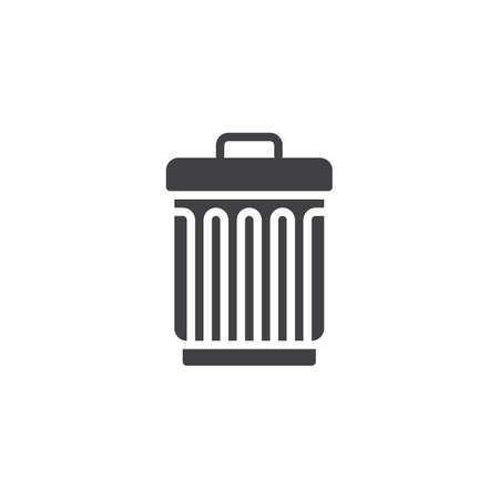 Trashcan vector icon, filled flat sign for mobile concept and web design.