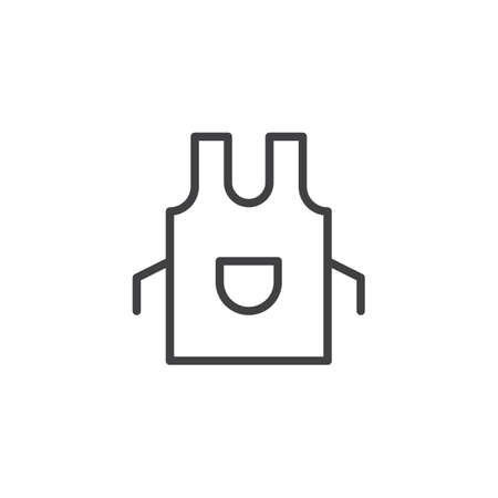 Apron outline icon. linear style sign for mobile concept and web design. Kitchen pinafore simple line vector icon. Symbol, logo illustration. Pixel perfect vector graphics