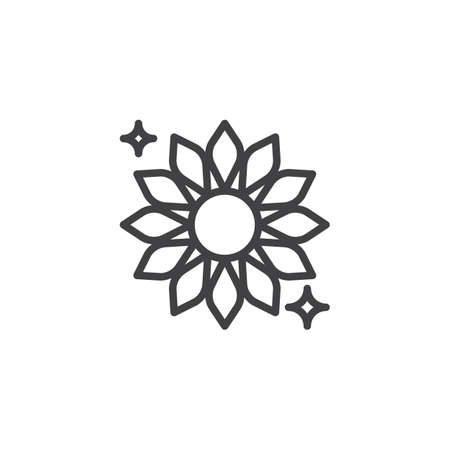 Clean flower outline icon. linear style sign for mobile concept and web design. Freshly Flower odor simple line vector icon. Symbol, logo illustration. Pixel perfect vector graphics