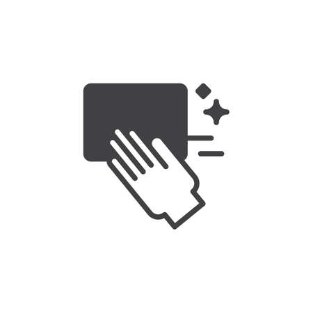 Cleaning hand vector icon. filled flat sign for mobile concept and web design.