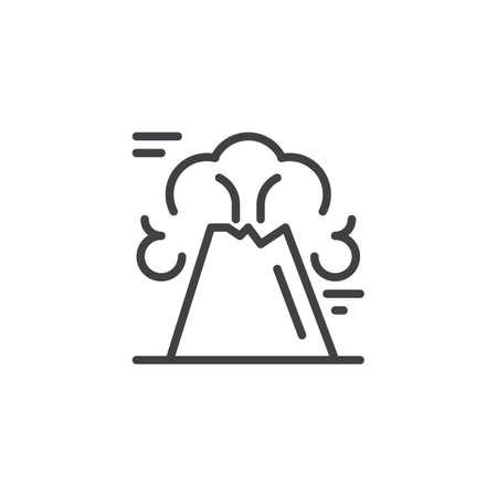 Volcano mountain outline icon linear style sign for mobile concept vector volcano mountain outline icon linear style sign for mobile concept and web design volcano eruption simple line vector icon maxwellsz