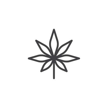 Cannabis leaf outline icon. Stock Vector - 97417350