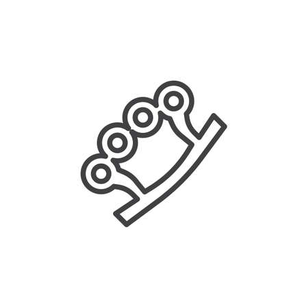 Brass knuckles outline icon