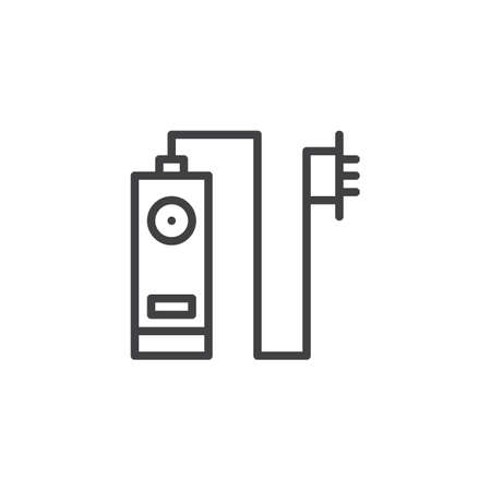 Digital photo timer and remote control outline icon. linear style sign for mobile concept and web design. Intervalometer simple line vector icon. Symbol, logo illustration. Vector graphics Stock Illustratie