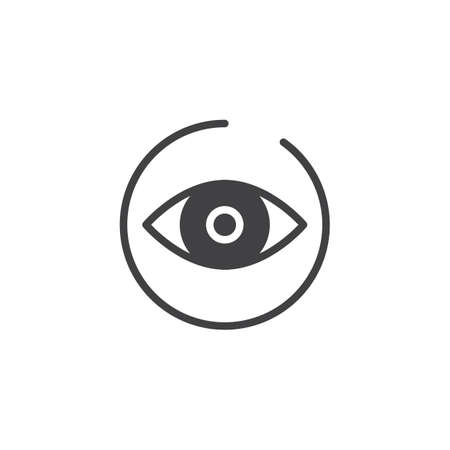 Icon OF an eye in a circle illustration.