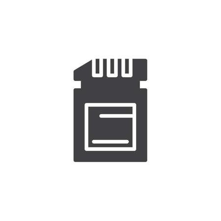 SD card storage vector icon Иллюстрация