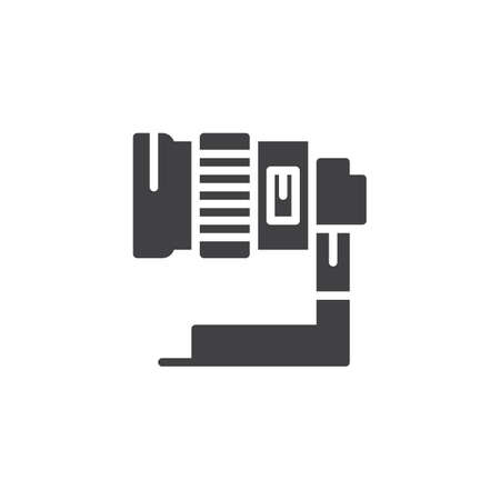 Camera lens vector icon