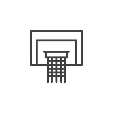 Basketball basket outline icon. linear style sign for mobile concept and web design. Basketball Hoop line vector icon. Symbol, logo illustration. Pixel perfect vector graphics