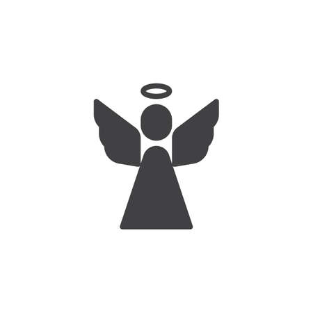 Holy angel vector icon. filled flat sign for mobile concept and web design. Religion simple solid icon. Symbol, logo illustration. Vector graphics