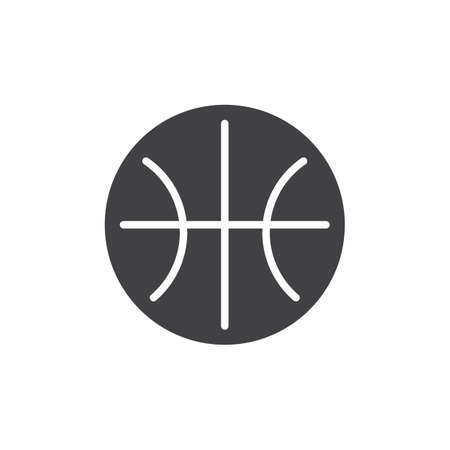 Basketball ball vector icon. filled flat sign for mobile concept and web design. Sport simple solid icon. Symbol, logo illustration. Pixel perfect vector graphics