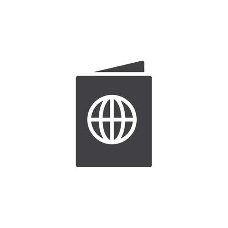 Passport vector icon. filled flat sign for mobile concept and web design. international passport document solid icon. Symbol, icon illustration. Pixel perfect vector graphics.