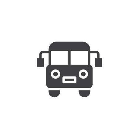 Bus vector icon. filled flat sign for mobile concept and web design. Public transport solid icon. Symbol, icon illustration. Pixel perfect vector graphics. Illustration