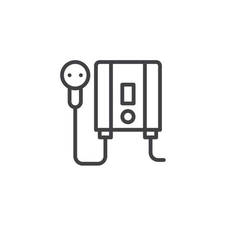 Electric water heater outline icon. linear style sign for mobile concept and web design.