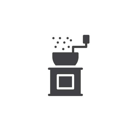 Pepper grinder vector icon. filled flat sign for mobile concept and web design. Coffee mill solid icon. Symbol, logo illustration. Pixel perfect vector graphics