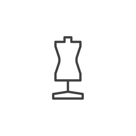 Mannequin outline icon. linear style sign for mobile concept and web design. Tailors dummy simple line vector icon. Symbol, illustration. Pixel perfect vector graphics