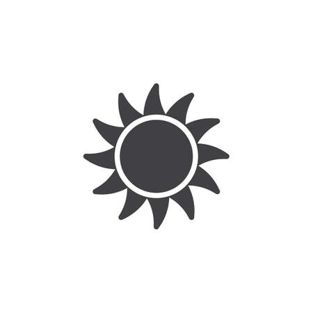 Beautiful sun vector icon. filled flat sign for mobile concept and web design.