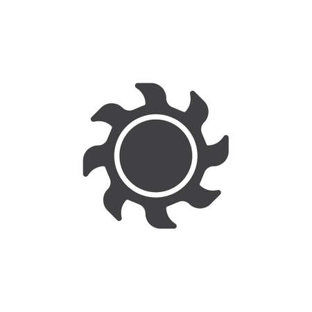 Burning sun vector icon. filled flat sign for mobile concept and web design. Иллюстрация