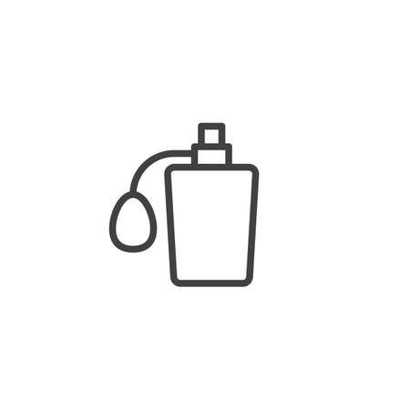 Perfume bottle outline icon. linear style sign for mobile concept and web design. Barber odor simple line vector icon. Symbol, logo illustration. Pixel perfect vector graphics