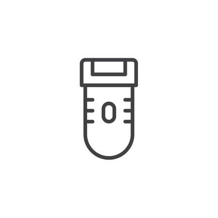 Icône de contour de machine à raser. signe de style linéaire pour le concept mobile et la conception web. Icône de vecteur ligne simple rasoir électrique. Symbole, illustration de logo. Graphiques vectoriels parfaits pixel