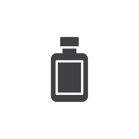 After shave lotion bottle vector icon. filled flat sign for mobile concept and web design. Barber shop simple solid icon. Symbol, logo illustration. Pixel perfect vector graphics